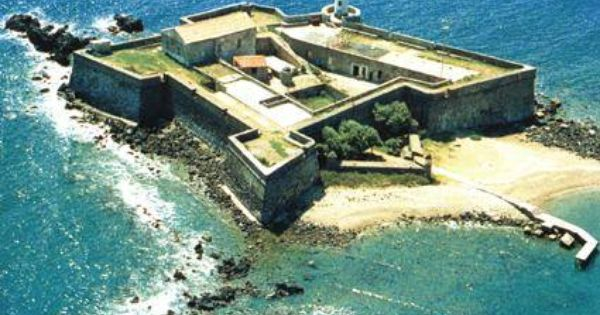 Fort Brescou France Castle Layout Chateau Fort