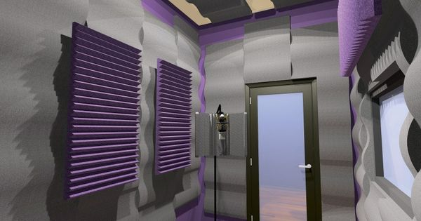 Auralex studiofoam wave acoustic foam panels products - Bedroom studio acoustic treatment ...