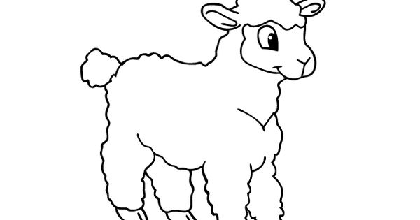 sheep coloring page cute sheep 2 coloring page preschool farm pinterest sheep and draw. Black Bedroom Furniture Sets. Home Design Ideas