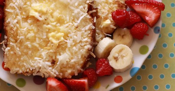 Coconut Crusted French Toast with Bananas and Berries - A Sparkle of ...