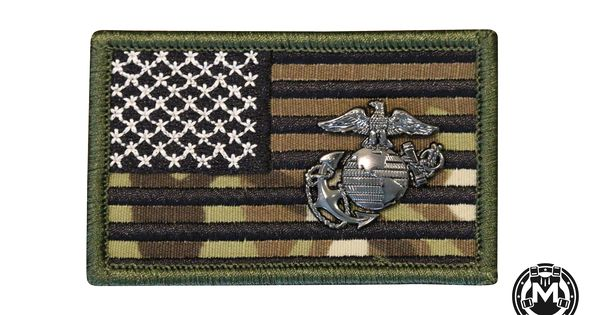 American Flag With Marine Corps Ega Marine Corps Marine Forces Marine
