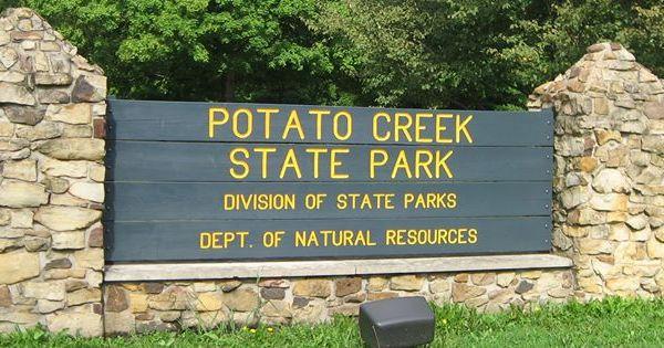 Potato creek state park lakeville indiana map pinterest for Potato creek cabins
