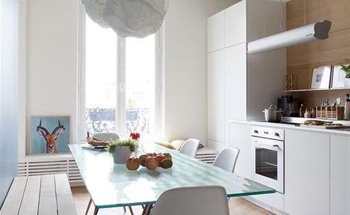 cuisine appartement haussmannien  Cuisine  Pinterest  Éclairage de ...