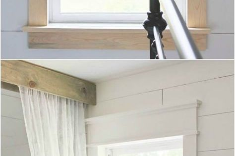 Farmhouse Window Trim See More Ideas About Beautiful