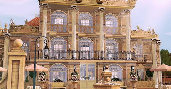 Sims 3 Lots Versailles French Restaurant