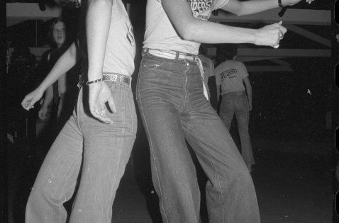Vicki Stroud and Peter Heperi participating in a dance marathon, Wellington, 7