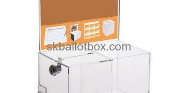 Ballot Box Factory Direct Sale Large Acrylic Ballot Box Clear Polycarbonate Box Bb 069 Acrylic Display Case Acrylic Box Vote Boxes
