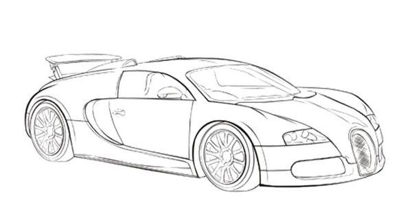 car sport bugatti veyron coloring page