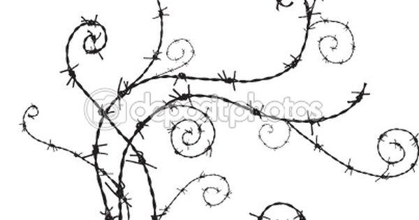 barbwire ornament  u2014 stock vector  4153888