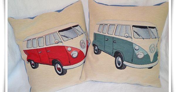 kissen vw t1 bulli bettw sche vw camper bus 3 roger 39 s. Black Bedroom Furniture Sets. Home Design Ideas