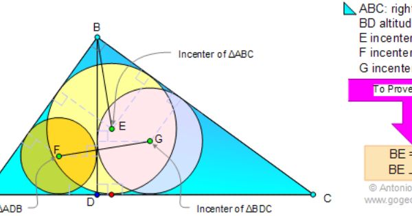Geometry Problem 25 Right Triangle Altitude Incenters Perpendicular Congruence Level High School Geometry Problems Mathematics Education Right Triangle