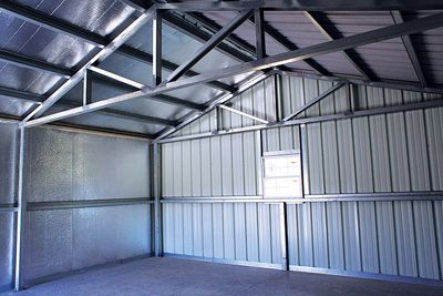 Metal Buildings Rigid Steel Frame Galvanized Aluminum Frame