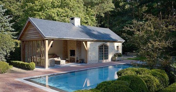 Zwembad poolhouse zwembad zwemvijver pinterest gardens - Outdoor decoratie zwembad ...