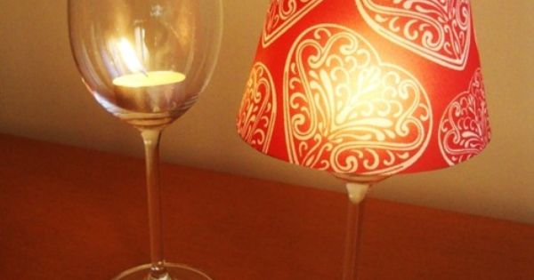 Cheap wine glass + tea light candle + paper cup with bottom