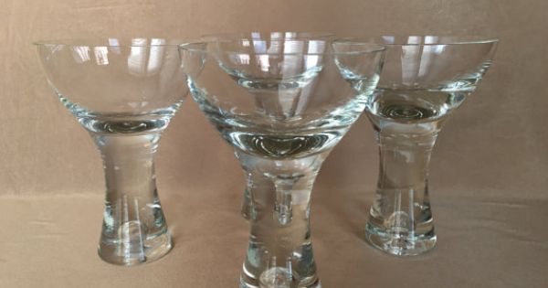 martini glasses  vintage barware  tribeca glassware