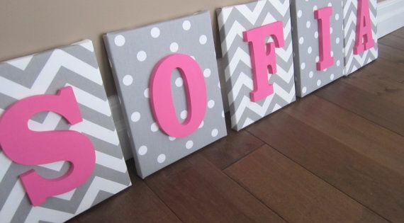 Wall Canvas Letters Nursery Decor Nursery Letters