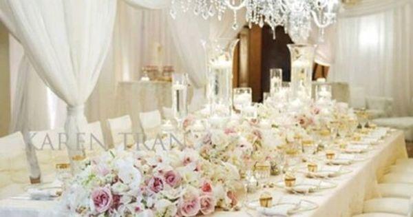 mariage de luxe : la décoration  Mariage luxe  Pinterest  Mariage ...