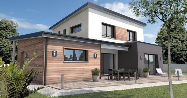 Constructeur maison moderne longeville sur mer vend e 85 depreux construction maison for Maison contemporaine vendee