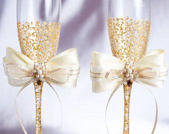 Champagner Gläser Hochzeit Flöten Von Joliefleurdeco Auf