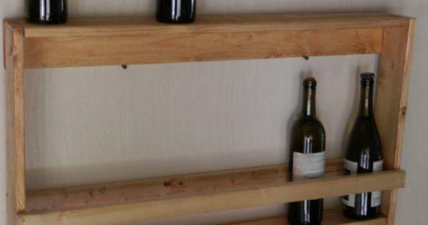Murale rustique bois vin spiritueux panier porte for Decoration murale vin