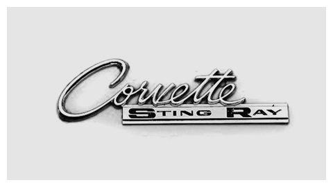 Corvette Emblem 1963 Script Lettering Corvette Car Emblem