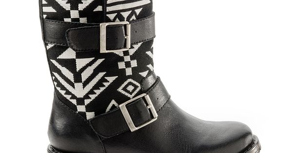 Sasha - ShoeMint; Tribal print on boots--Love