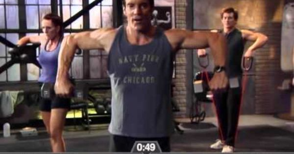 P90X Chest Shoulders and Triceps FULL + 25 burpees, 25 Mt ...