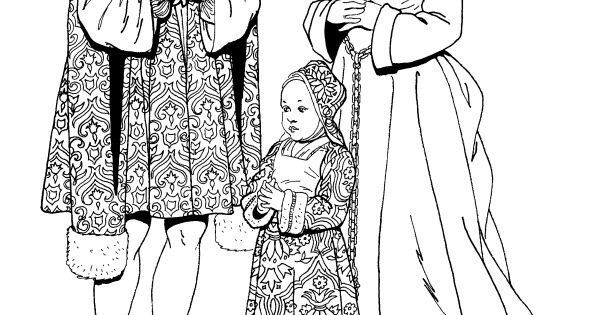Tudor And Elizabethan Fashions Dover Fashion Coloring