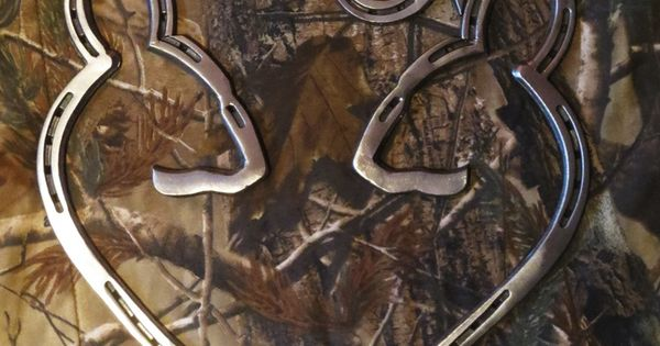 Deer Heart Steel Made Out Of Horse Shoes Country Life Pinterest Deer Browning And Horses