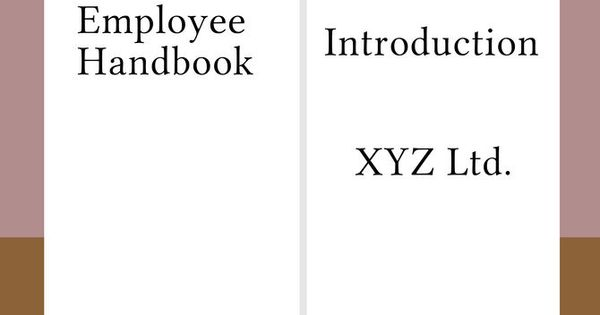 Write an Employee Handbook | Employee handbook