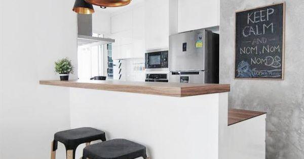 Une cuisine ouverte lumineuse avec bar http www m for Amenagement cuisine ouverte avec ilot