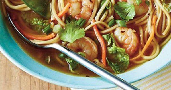 Shrimp noodles, Noodle bowls and Spicy shrimp on Pinterest