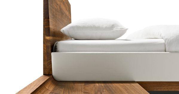 solid wood bed riletto by team 7 nat rlich wohnen design kai stania team 7 nat rlich. Black Bedroom Furniture Sets. Home Design Ideas