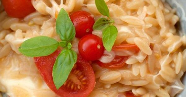 Sweet Paul: My Happy Dish: Tomato, Mozzarella Basil Orzo from Giulia of