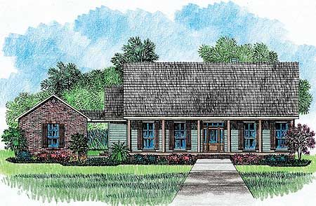 Plan 14149kb Front And Back Porches Acadian House Plans Southern House Plans House Plans