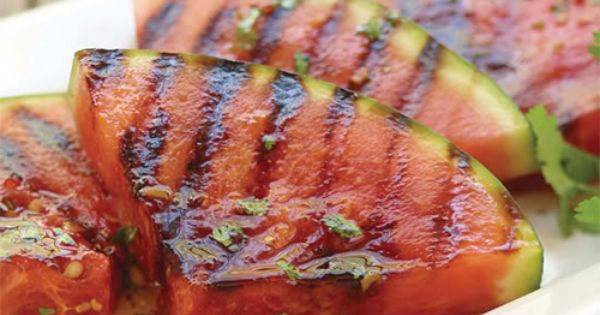 Grilled Spicy Watermelon recipe. Transform sweet watermelon into a savory side dish