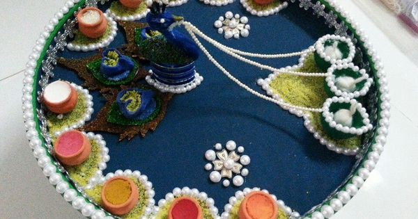 Aarti decoration decoration pinterest decoration for Aarti thali decoration with grains