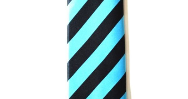 Mens Tie Black and Blue Stripe Pattern Modern Style by TiestheKnot, $8.99