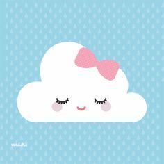 Quadro Com Imagens Nuvem Chuva De Amor Nuvem Desenho