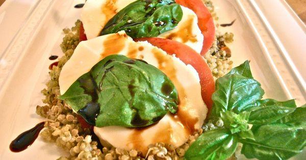 Pesto, Quinoa and Caprese salad on Pinterest