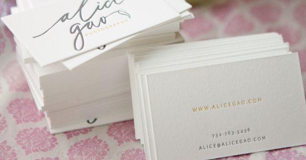 Alice Gao business cards, letterpress design