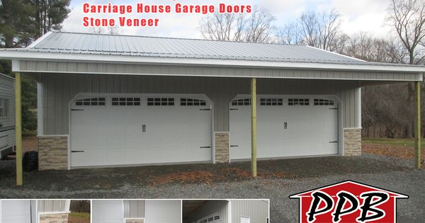 Lean To 10 W X 40 L X 12 6 H 20 Pole Spacing 2 16 X 8 Carriage House Garage Doors With 3 Piece Arc Carriage House Garage Doors Lean To