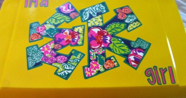 Vineyard Vines Patchwork Cooler floral letters | coole...
