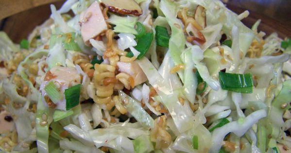 Oriental Chicken Salad with Crunchy Ramen Noodles Recipe Food Dinner