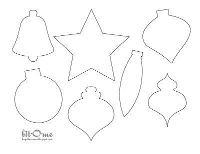 Bit O Me Felt Christmas Tree Christmas Ornament Template Printable Christmas Ornaments Christmas Tree Template