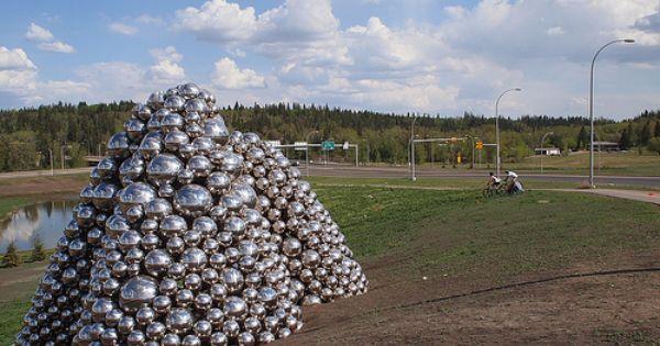 Talus Balls In Edmonton By Whitemud Drive Edmonton Ball Installation