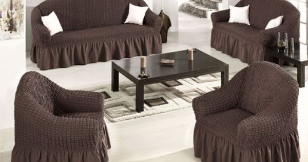 Details About Elastic Stretch Slip Fit Sofa Covers Slipcover Couch
