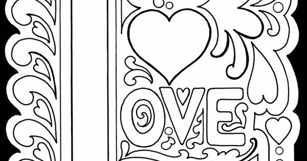 true love coloring pages - photo#24