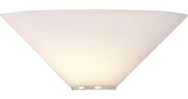 Mozart White Glass Uplighter Wall Light 141639 Homebase GBP
