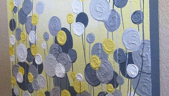 pretty DIY artwork... this would be awesome in my living room colors